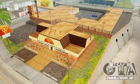 A nova textura pizzarias e comodidades Iludem para GTA San Andreas décimo tela