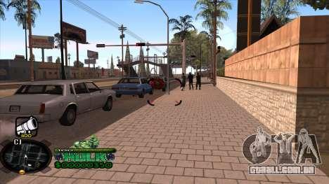 C-HUD Hulk para GTA San Andreas segunda tela