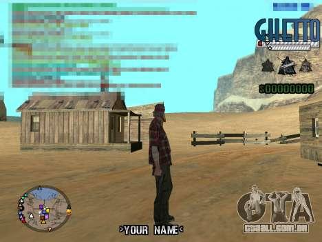 C-Hud Ghetto para GTA San Andreas terceira tela