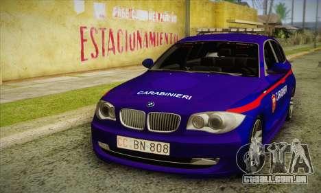 BMW 120i SE Carabinieri para GTA San Andreas
