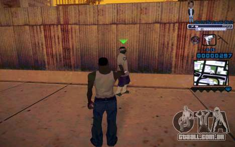 C-HUD One Of The Legends Ghetto para GTA San Andreas terceira tela