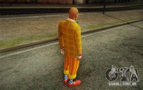 O palhaço de GTA 5 para GTA San Andreas terceira tela