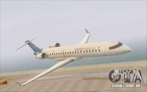 Garuda Indonesia Bombardier CRJ-700 para GTA San Andreas vista direita