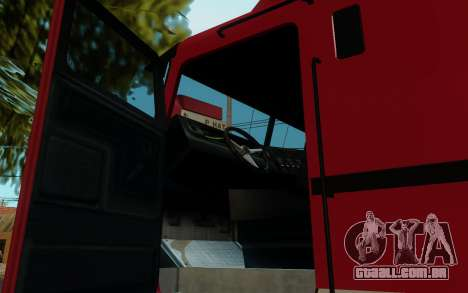 JoBuilt Caminhão Fixet из GTA 5 para GTA San Andreas traseira esquerda vista