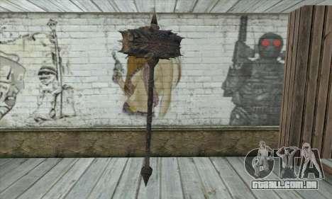 O machado de Skyrim para GTA San Andreas