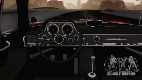 Mercedes-Benz 300SL 1955 para GTA San Andreas vista traseira