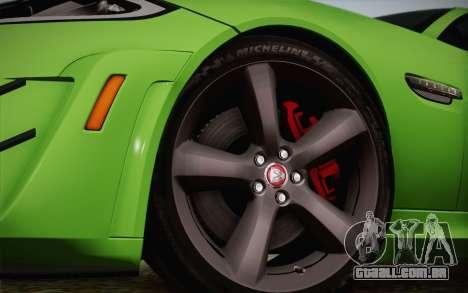 Jaguar XKR-S GT 2013 para GTA San Andreas vista direita