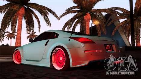 Nissan 350Z Minty Fresh para GTA San Andreas esquerda vista