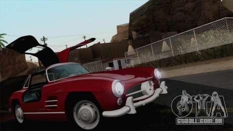 Mercedes-Benz 300SL 1955 para GTA San Andreas vista superior