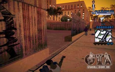 C-HUD One Of The Legends Ghetto para GTA San Andreas por diante tela