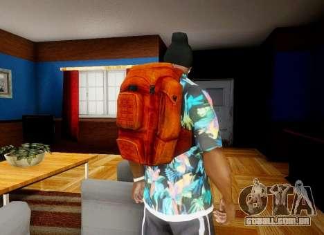 Mochila de o Estado de degradação para GTA San Andreas por diante tela