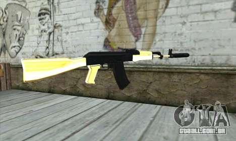 Golden AK47 para GTA San Andreas segunda tela
