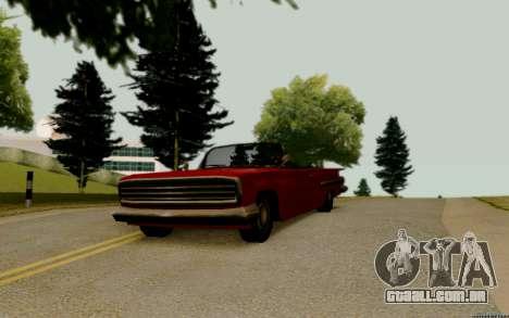 Voodoo Conversível (versão sem luzes) para GTA San Andreas vista direita