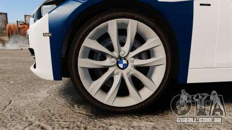 BMW F30 328i Finnish Police [ELS] para GTA 4 vista de volta