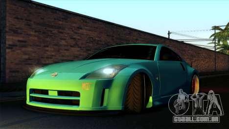 Nissan 350Z Minty Fresh para vista lateral GTA San Andreas