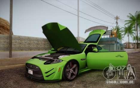 Jaguar XKR-S GT 2013 para GTA San Andreas vista interior