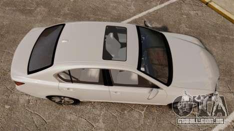 Lexus GS 300h para GTA 4 vista direita