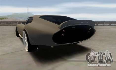 Shelby Cobra Daytona para GTA San Andreas esquerda vista