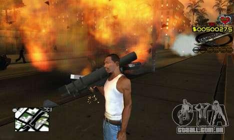C-HUD New Liberia para GTA San Andreas por diante tela