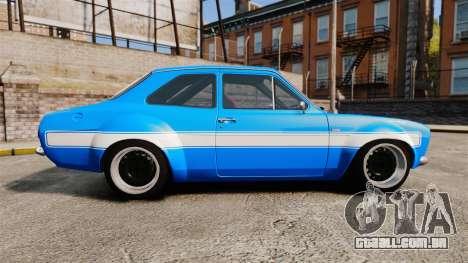 Ford Escort MK1 FnF Edition para GTA 4 esquerda vista