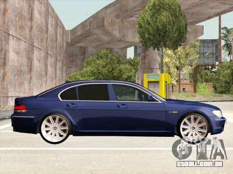 BMW 760Li para GTA San Andreas vista interior