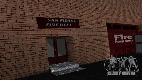 Updated San Fierro Fire Dept para GTA San Andreas segunda tela