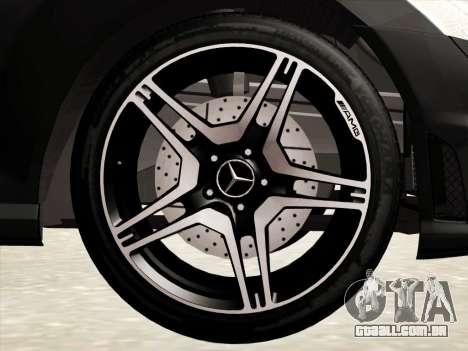 Mercedes-Benz S65 AMG para GTA San Andreas vista inferior