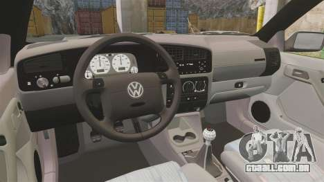 Volkswagen Golf MK3 Harlequin para GTA 4 vista de volta