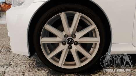 Lexus GS 300h para GTA 4 vista de volta