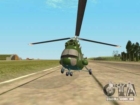 Mi 2 militares para GTA San Andreas traseira esquerda vista