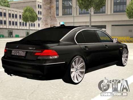 BMW 760Li para GTA San Andreas interior
