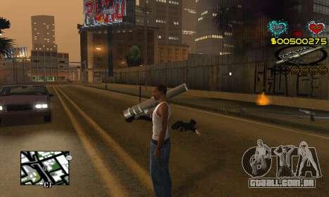 C-HUD New Liberia para GTA San Andreas terceira tela