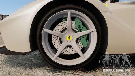 Ferrari LaFerrari Spider v2.0 para GTA 4 vista de volta