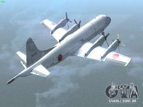 Lockheed P-3 Orion FAJ para GTA San Andreas vista traseira