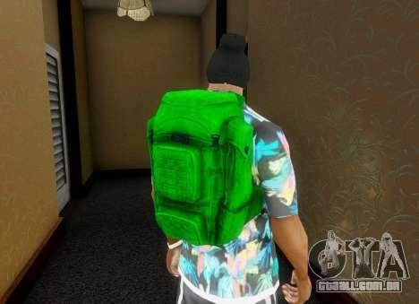 Mochila de o Estado de degradação para GTA San Andreas quinto tela