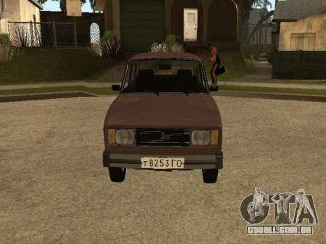 VAZ 2105 versão inicial para GTA San Andreas esquerda vista