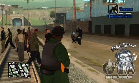 C-HUD Tawi Detka para GTA San Andreas por diante tela