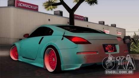 Nissan 350Z Minty Fresh para GTA San Andreas traseira esquerda vista