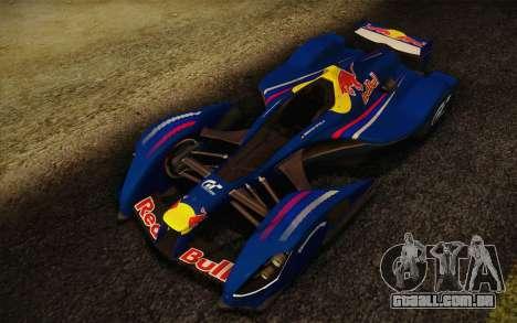 GT Red Bull X10 Sebastian Vettel para GTA San Andreas esquerda vista
