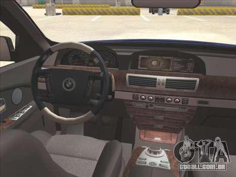 BMW 760Li para vista lateral GTA San Andreas