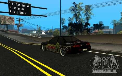 Nissan Silvia S14 Monster Energy KENDA Tire para GTA San Andreas esquerda vista
