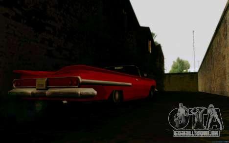 Voodoo Conversível (versão sem luzes) para GTA San Andreas traseira esquerda vista