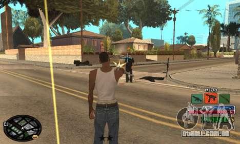 C-HUD Rainbow para GTA San Andreas sexta tela