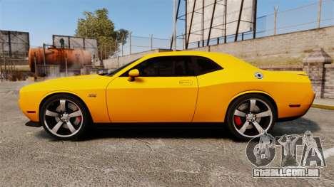 Dodge Challenger SRT8 2012 para GTA 4 esquerda vista