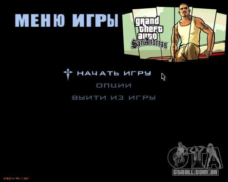 O menu da versão móvel do jogo para GTA San Andreas