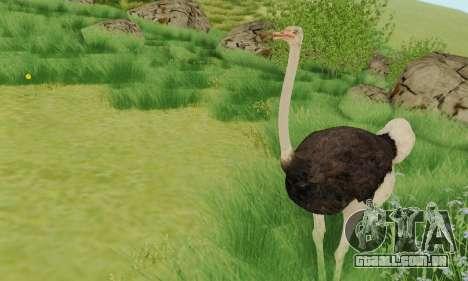 Ostrich From Goat Simulator para GTA San Andreas segunda tela