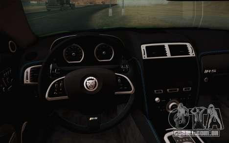 Jaguar XKR-S GT 2013 para GTA San Andreas vista traseira