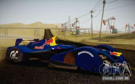 GT Red Bull X10 Sebastian Vettel para GTA San Andreas vista direita
