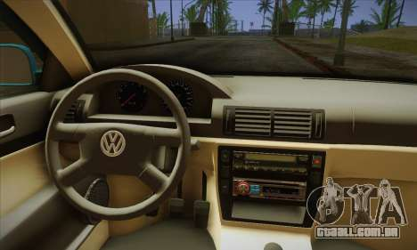 Volkswagen Passat para GTA San Andreas vista traseira