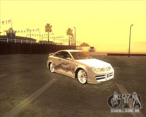 Mercedes CLK 500 из NFS Most Wanted para GTA San Andreas